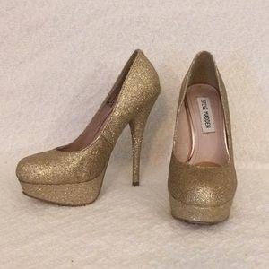 Steve Madden gold glitter stiletto heels 5.5